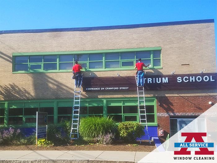 school window cleaner